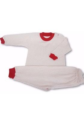 Sebi 52083 Unisex Noktalı Pijama Takımı