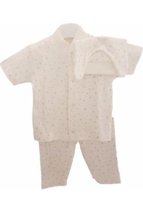 Sebi 90120 Unisex Kısa Kolllu Kar Tanesi Pijama