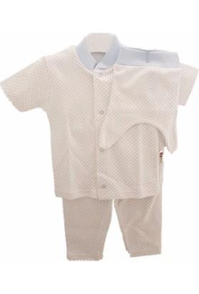 Sebi 90121 Unisex Kısa Kolllu Puantiyeli Pijama