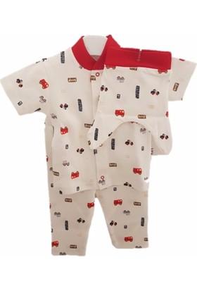 Sebi 90122 Unisex Kısa Kolllu Arabalı Pijama