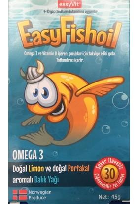 Easyvi̇t Easyfishoil Omega 3 Çiğnenebilir 30 Jel Tablet