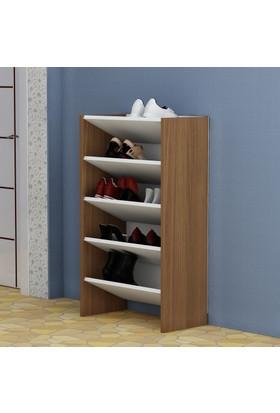 Arnetti Nil4 Ayakkabılık Beyaz-Ceviz