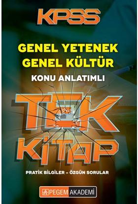 Kpss Genel Yetenek Genel Kültür Konu Anlatımlı Tek Kitap Pegem Yayınları