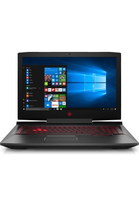 "HP Omen Intel Core i7 7700HQ 16GB 2TB + 256GB SSD GTX1050Ti Windows 10 Home 17.3"" FHD Taşınabilir Bilgisayar 2BU46EA"