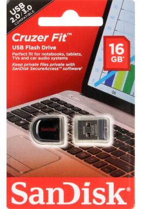 Sandisk Cruzer Fit 16GB USB Bellek (SDCZ33-016G-B35)