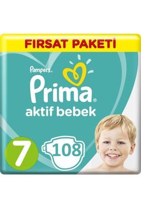 Prima Bebek Bezi Aktif Bebek 7 Beden XX Large Aylık Paketi 7 Beden 108 Adet 36x3 Adet