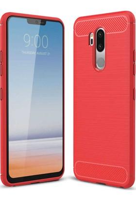 CoverZone LG G7 ThinQ Room Extreme Silikon Kılıf Kırmızı + Nano Ekran Koruma