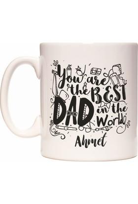 Rockn Fox Babalar Günü İsme Kişiye Özel Baba için İsim Yazılabilir Kupa Bardak