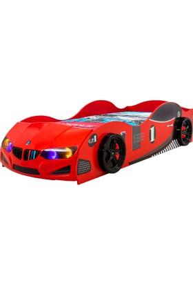Derman Yatak Arabalı Yatak GT Model Kırmızı