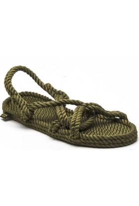 Nomadic Republic Bora Bora Haki Kadın İp Sandalet