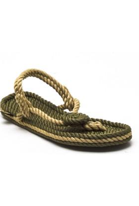 Nomadic Republic Bali Haki-Bej Kadın İp Sandalet