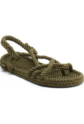 Nomadic Republic İbiza Haki Kadın İp Sandalet