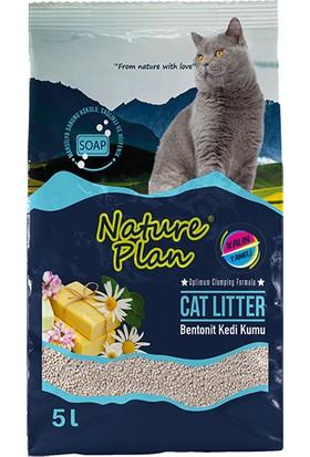 Nature Plan 5 Lt Kalın Taneli Marsilya Kokulu Bentonit Kedi Kumu