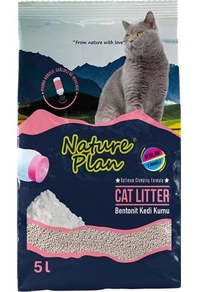 Nature Plan 5 Lt Kalın Taneli Pudralı Bentonit Kedi Kumu