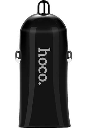 Hoco Z12 Çift USB Araç Şarj Cihazı - Siyah