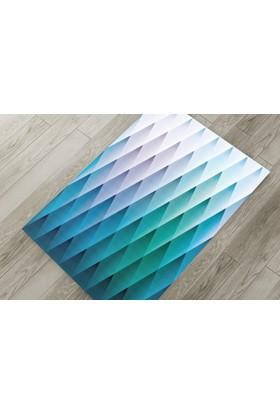 Cici Halı Geometrik Renkli Sarkıklar Lastikli Halı Örtüsü-120x180