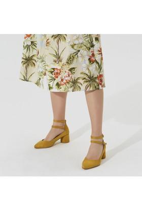 Butigo Carina 50Z Hardal Kadın Gova Ayakkabı