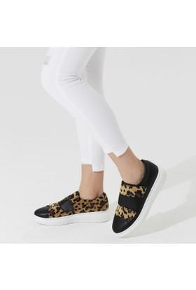 Butigo Contessa85Z89Z Siyah Leopar Kadın Sneaker Ayakkabı