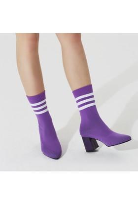Butigo Cora27Z Mor Kadın Topuklu Ayakkabı