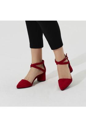 Butigo Dasa 33Z Kırmızı Kadın Gova Ayakkabı