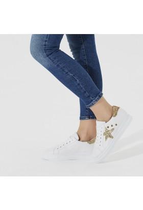 Butigo Day01Z05Y Beyaz Altın Kadın Sneaker Ayakkabı