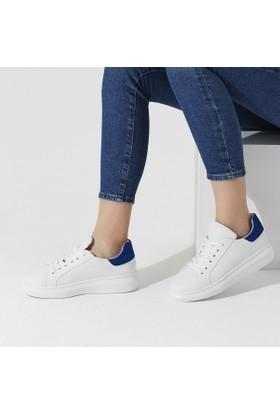 Butigo Dino 01Z73Z Beyaz Saks Kadın Sneaker Ayakkabı