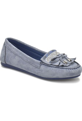 Miss F Ds18021 Mavi Kadın Loafer