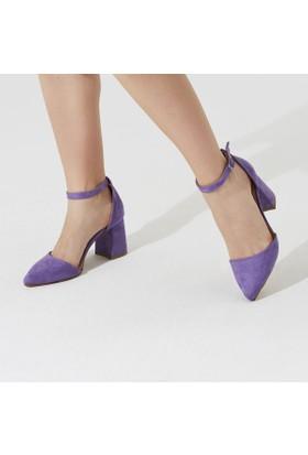 Butigo Romance*24Z Lila Kadın Ökçeli Ayakkabı