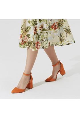 Butigo Romance*47Z Turuncu Kadın Ökçeli Ayakkabı