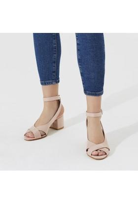 Butigo Tag 04Z Pudra Kadın Sandalet
