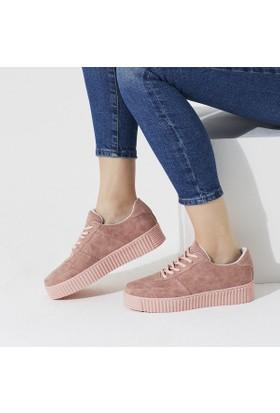 Butigo Tokyo Z Pudra Kadın Sneaker Ayakkabı
