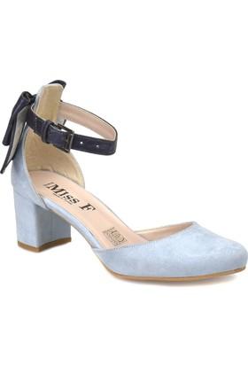 Miss F Ds18122 Açık Mavi Kadın Basic Dress