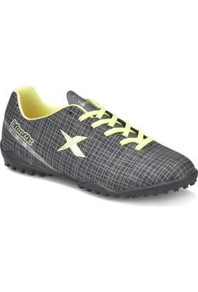 Kinetix Vengo Turf Siyah Gri Neon Sarı Erkek Halı Saha Ayakkabısı