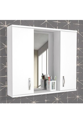 Evmanya Haus Aynalı Üst Modül 80 cm Dolap