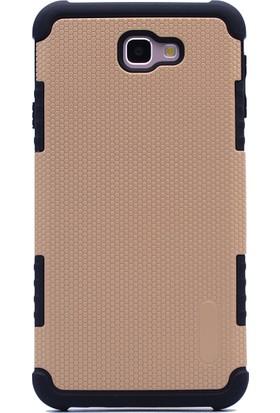 Case 4U Samsung Galaxy J7 Prime Kılıf Tam Koruyan Sert Silikon Kılıf - YouYou - Altın