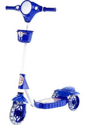 XScooty Silikon 3 Tekerlekli Frenli Mavi Scooter