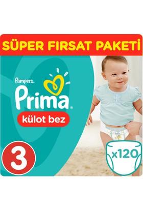 Prima Pants Külot Bebek Bezi 3 Beden Midi Süper Fırsat Paketi 120 Adet