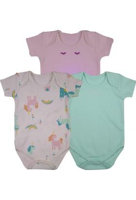 Baby Corner 3'lü Kısa Kollu Body Unicorn