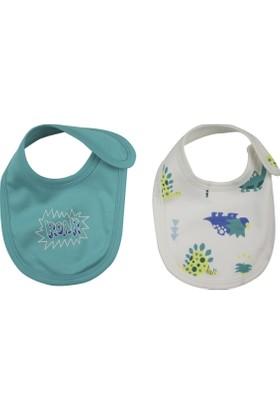 Baby Corner 2'li Mama Önlüğü Dino