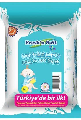 Fresh'N Soft Islak Tuvalet Kağıdı Çocuklar İçin 60'Lı