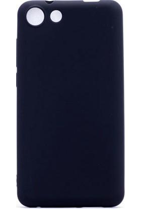 HappyShop Vestel Venüs V4 Kılıf Ultra İnce Mat Silikon + Cam Ekran Koruyucu - Siyah