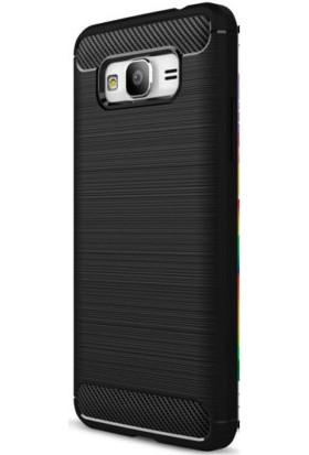 HappyShop Samsung Galaxy J7 Max Kılıf Ultra Korumalı Room Silikon + Cam Ekran Koruyucu - Siyah