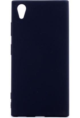 HappyShop Sony Xperia XA1 Plus Kılıf Ultra İnce Mat Silikon + Nano Cam Ekran Koruyucu - Siyah