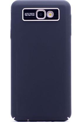 HappyShop Samsung Galaxy J7 Prime Kılıf Kamera Korumalı Sline Sert Arka Kapak + Nano Cam Ekran Koruyucu - Siyah