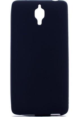 HappyShop Xiaomi Mi 4 Kılıf Ultra İnce Mat Silikon + Cam Ekran Koruyucu - Siyah