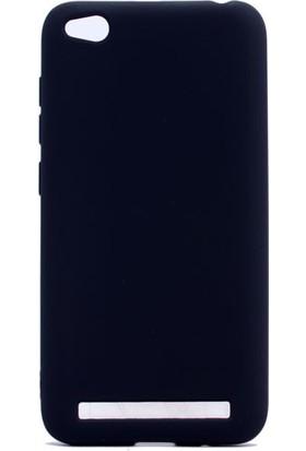 HappyShop Xiaomi Redmi 5A Kılıf Ultra İnce Mat Silikon + Cam Ekran Koruyucu - Siyah
