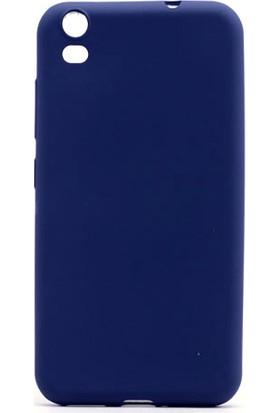 HappyShop Vestel Venüs V5 Kılıf Ultra İnce Mat Silikon + Cam Ekran Koruyucu - Lacivert