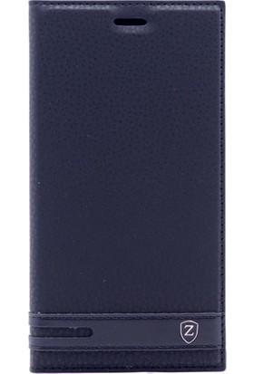 HappyShop Huawei Y7 Kılıf Gizli Mıknatıslı Kapaklı + Nano Cam Ekran Koruyucu - Siyah