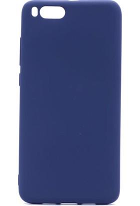 HappyShop Xiaomi Mi Note 3 Kılıf Ultra İnce Mat Silikon + Nano Cam Ekran Koruyucu - Lacivert