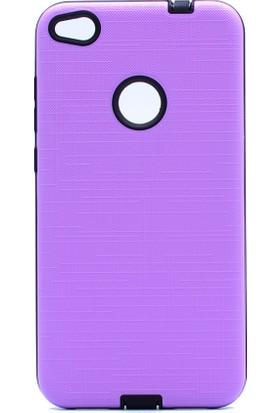 HappyShop Huawei P9 Lite 2017 Kılıf Ultra Korumalı New Youyou Silikon + Cam Koruma - Mor